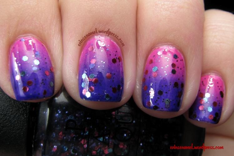 Sinful Colors Cream Pink + Julep Eden + OPI Polka.com