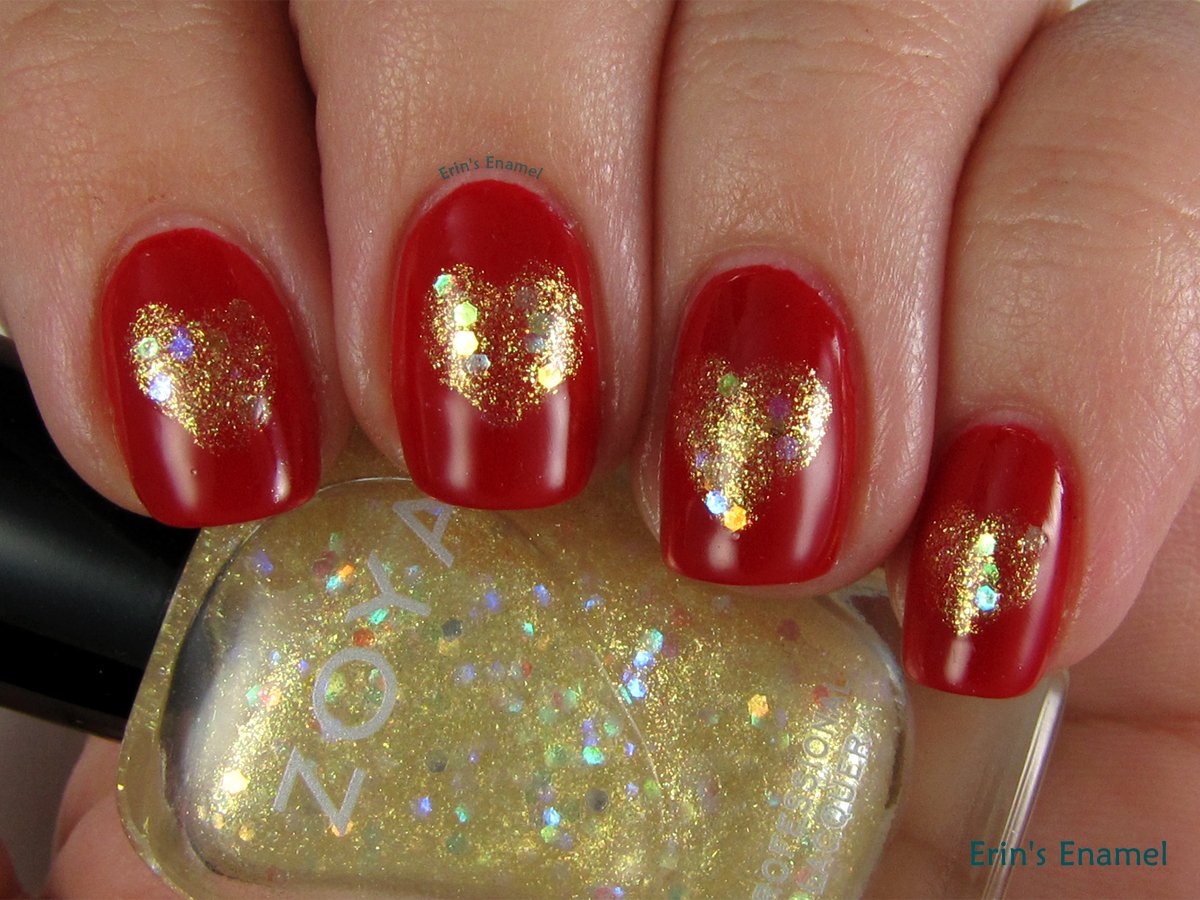 Simple Valentineu0027s Day Nail Art With Zoya Renee And Cindy | Erinu0027s Enamel